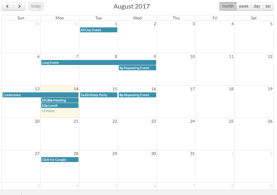 Arshaw FullCalendar for AngularJS - issues faced and solutions