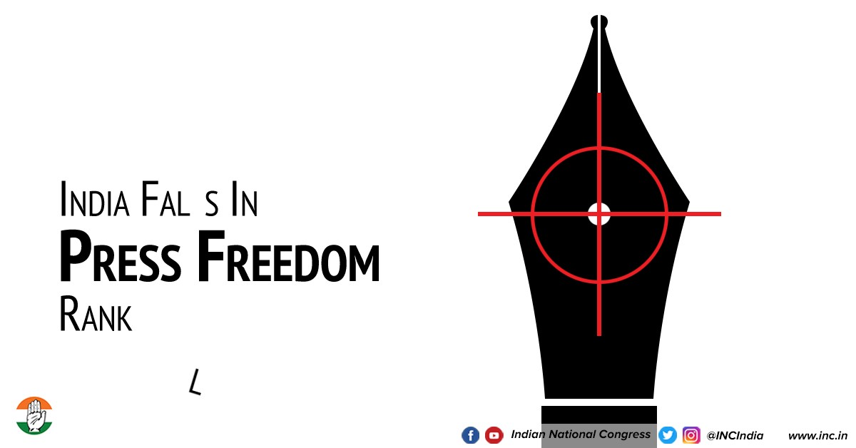 India Falls Further in World Press Freedom Index - Indian