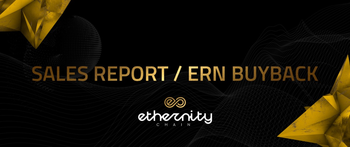 ETHERNITY SALES REPORT & ERN BUYBACK—Drops from 0–3