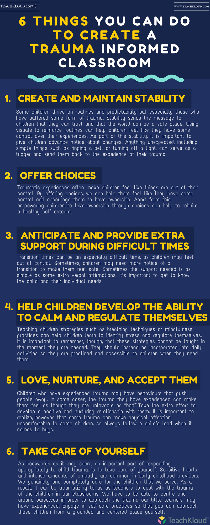 Trauma Can Make It Hard For Kids To >> 6 Things You Can Do To Create A Trauma Informed Learning Environment