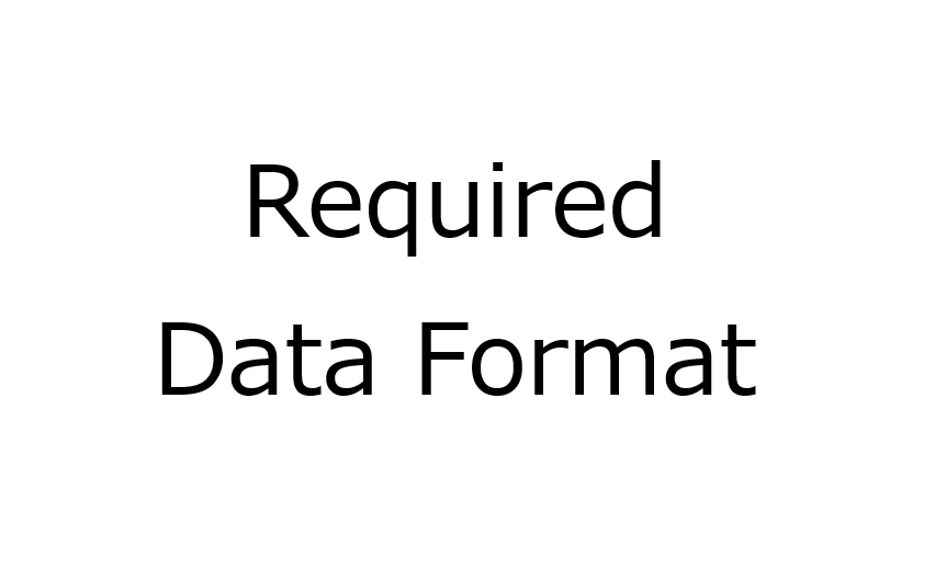 Data format for MATLAB, R and Python codes of data analysis