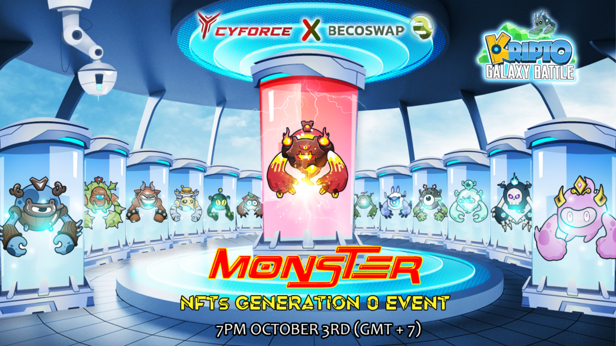 Get ready for the Second Pre-sale of Kripto Galaxy Battle: Monster NFT!
