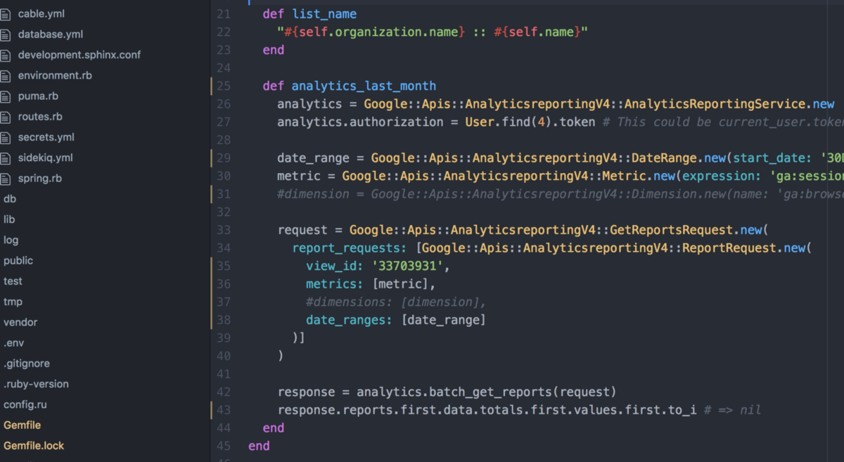 Using the Google Analytics Reporting API v4 with Rails