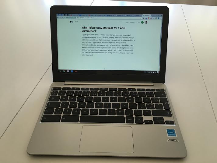 Why I left my new MacBook for a $250 Chromebook - Thinking about