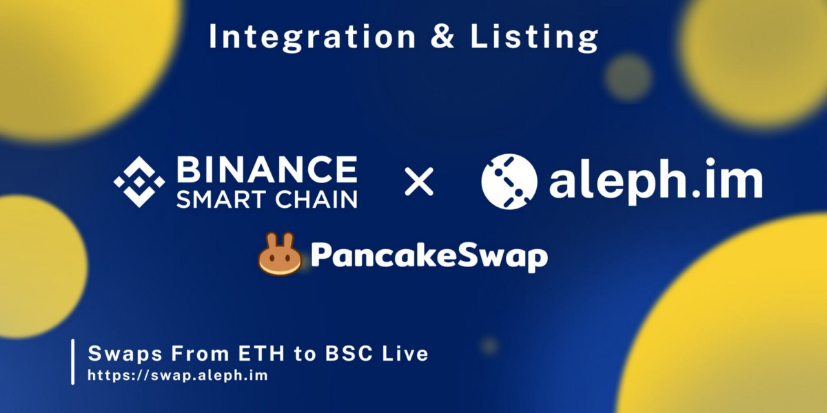 ALEPH Token Now On Binance Smart Chain And Pancakeswap