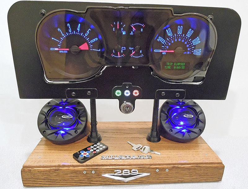 A Converted Mustang Gauge Cluster Makes a Perfect Desktop