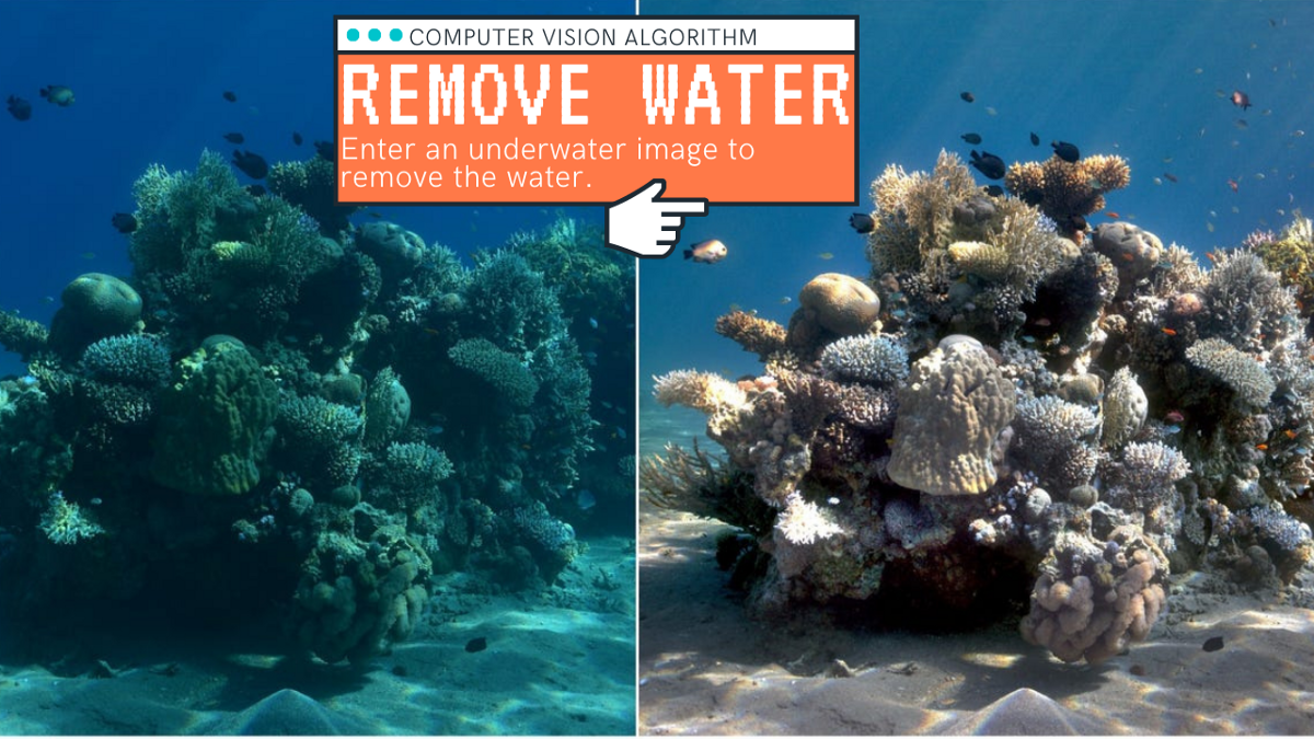 This AI removes the water from underwater images!