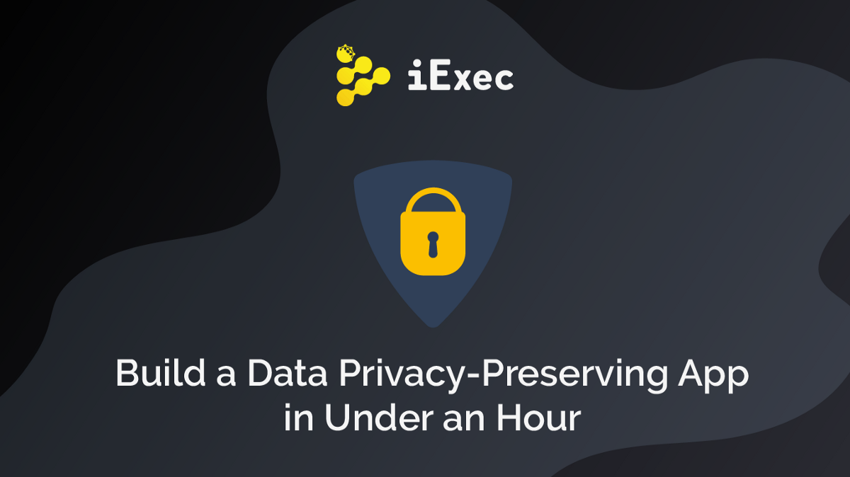 How To Build a Data Privacy-Preserving App in Under 1 Hour