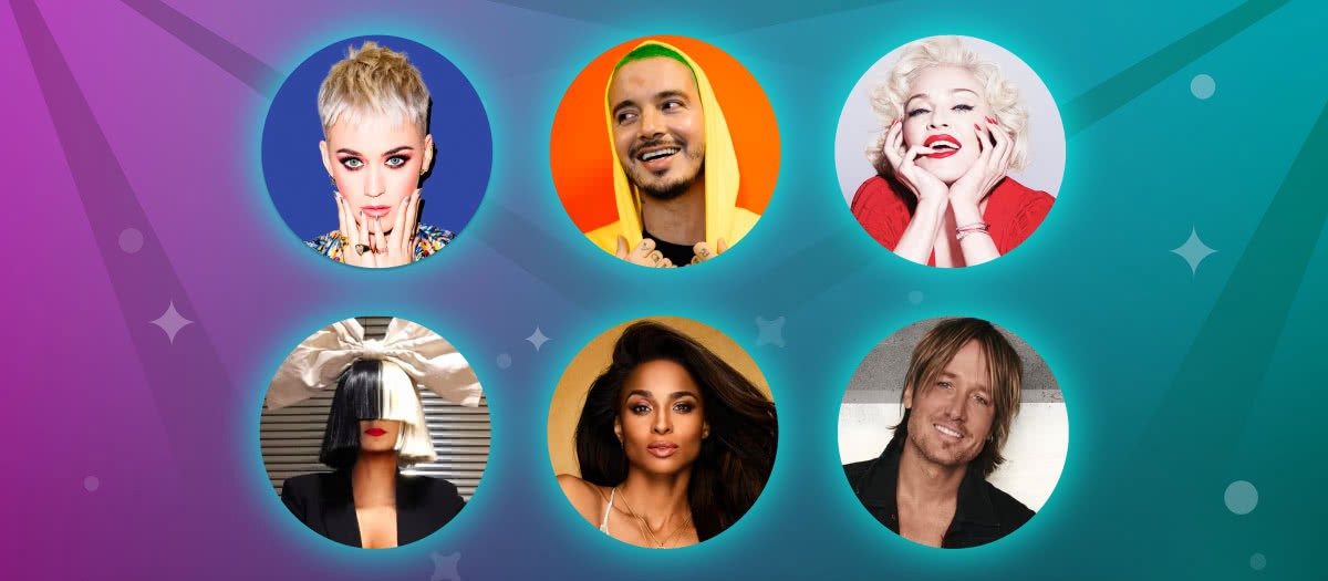 Katy Perry, Sia, Keith Urban, Madonna and more in