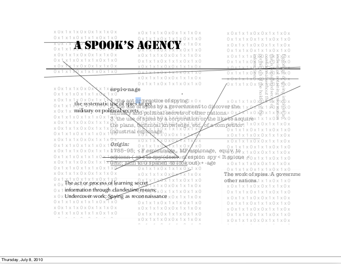Ex-Spec Po Presents: 'A Spook's Agency' by Francis Raven