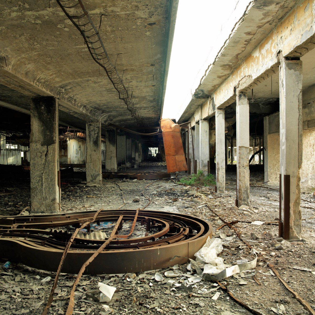 Inside An Abandoned Athens Airport