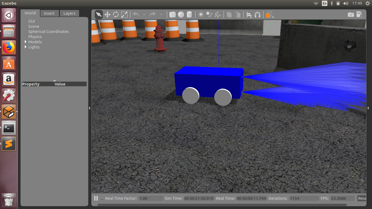 Integrating sonar and IR sensor plugin to robot model in