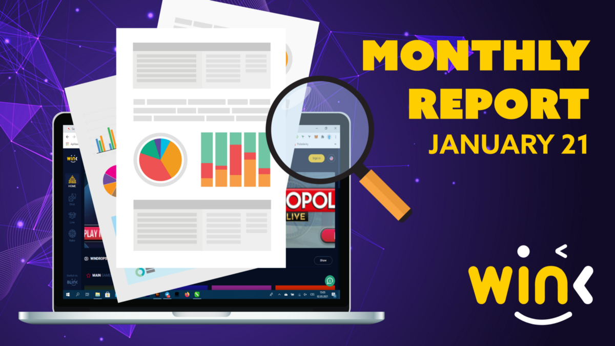 WINK MONTHLY REPORT FOR JANUARY