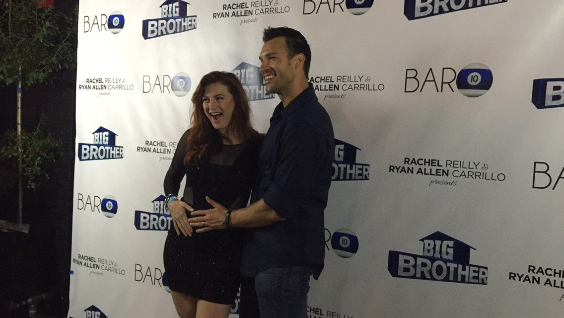 "Rachel Reilly, ""Big Brother 13"" winner, with husband Brendon Villegas, ""Big Brother 12"" and ""Big Brother 13"" houseguest, at the BB17 wrap party (Neon Tommy/Dustin Sloane)."