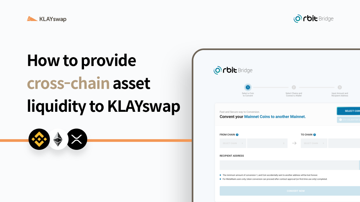How to provide cross-chain asset liquidity to KLAYswap
