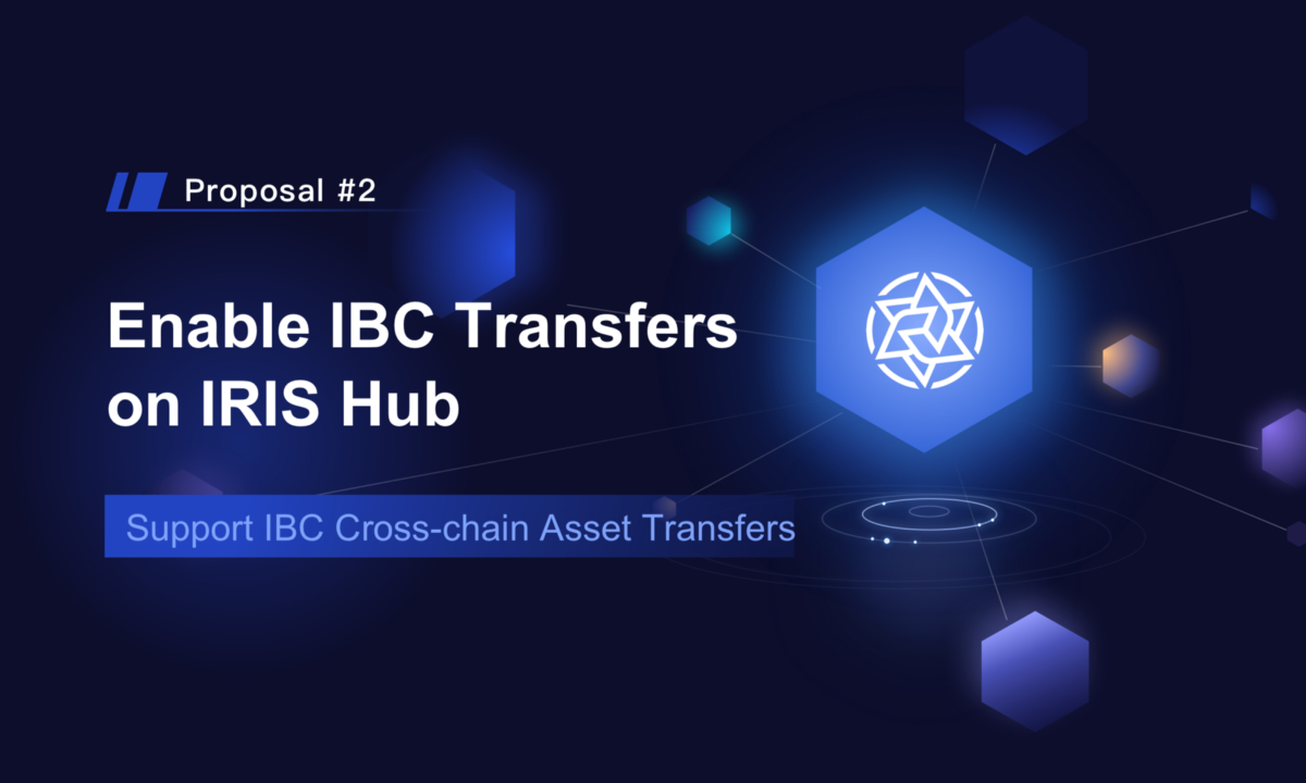 Enable IBC Transfers on IRIS Hub On-chain Governance Proposal has been submitted