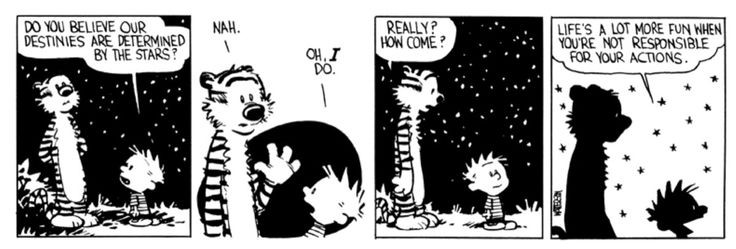 Image result for calvin and hobbes no free will