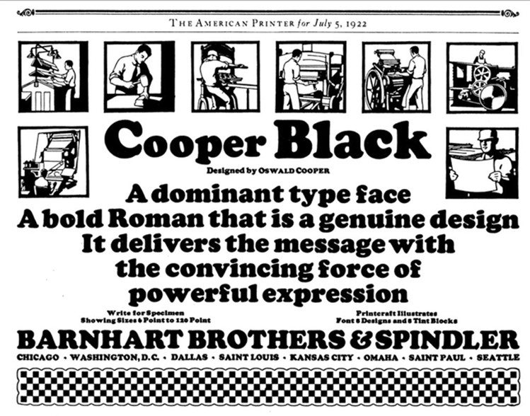 Cooper Black — Oswald Bruce Cooper (1921) - FGD1 The Archive - Medium