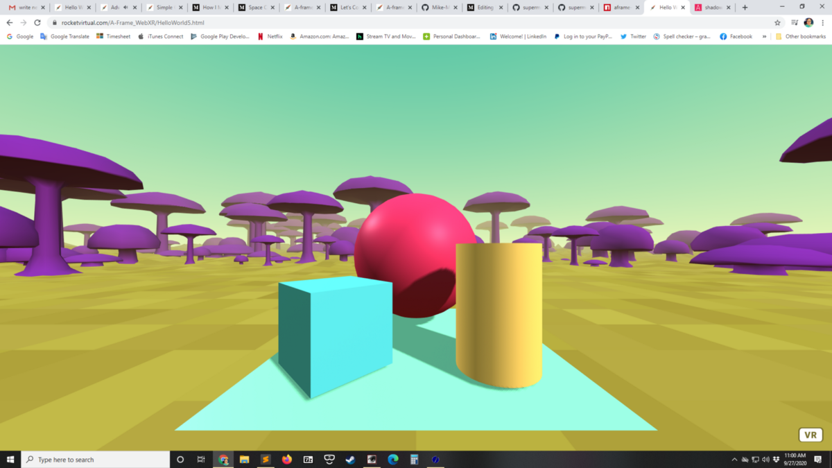 How to create VR experiences for the browser