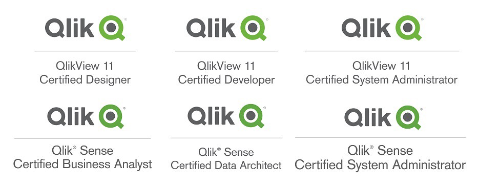 How to get all certifications for Qlik? (Qlikview , Qlik Sense)