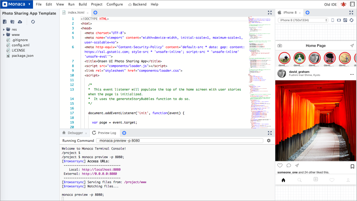 Getting the Most out of the New Monaca Cloud IDE with the integrated