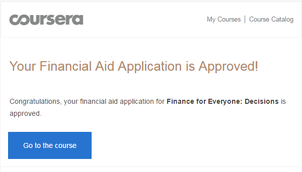 Getting Approved for Financial Aid on Coursera — I Did, So Can You