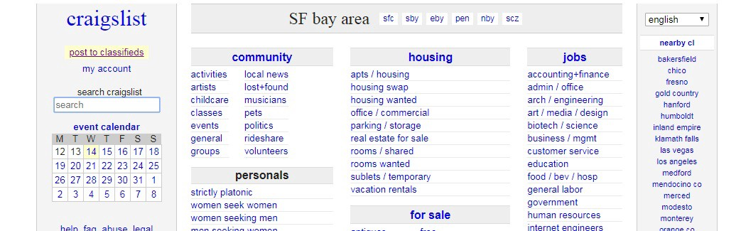 Craigslist Classifieds Los Angeles >> Craigslist Usability Testing And Redesign Suggestions