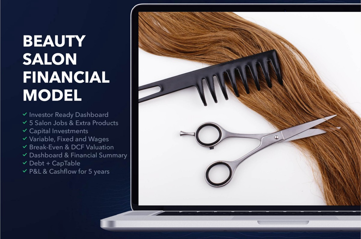 Hair and Beauty Salon Financial plan Sample Excel: How to
