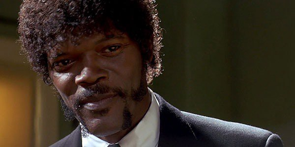 Sam Jackson as Jules Winnfield from Pulp Fiction.