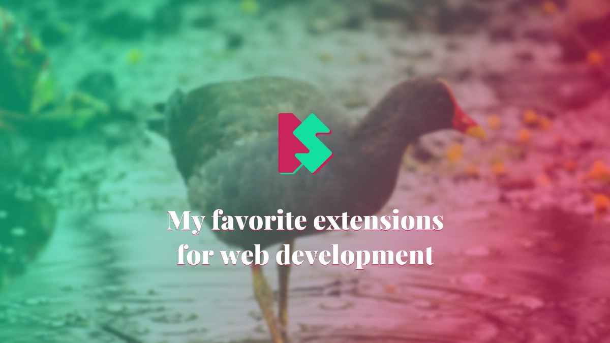 My favorite extensions for web development 🤘 SB