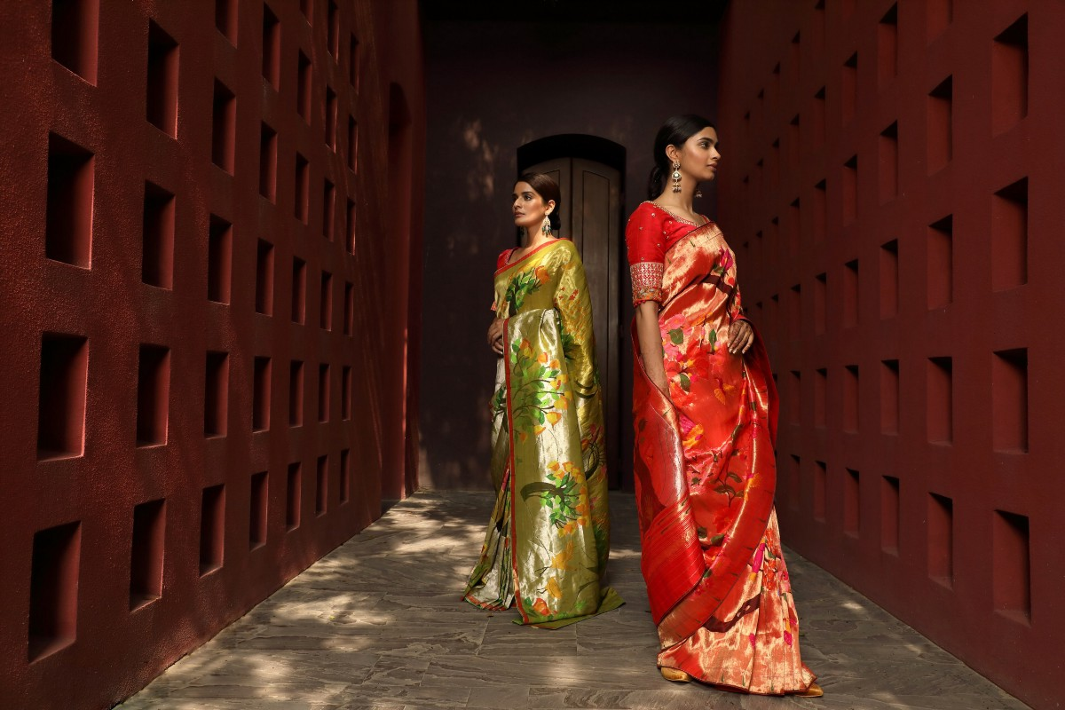 Get the traditional drape of your choice from the best Paithani saree stores in Delhi