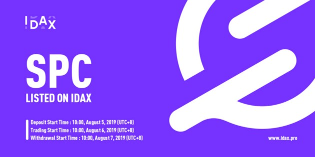 SpaceChain (SPC) to be listed on <bold>IDAX</bold>