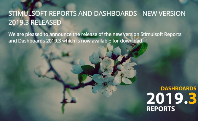 Stimulsoft Reports And Dashboards — New Version 2019 3 Released