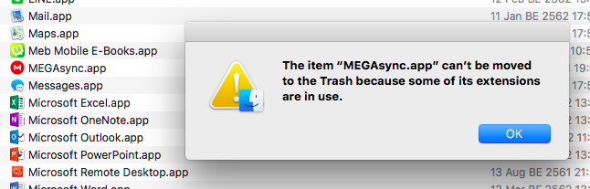 How to remove MEGAsync App on Mac - Prapath Nui Suayroop