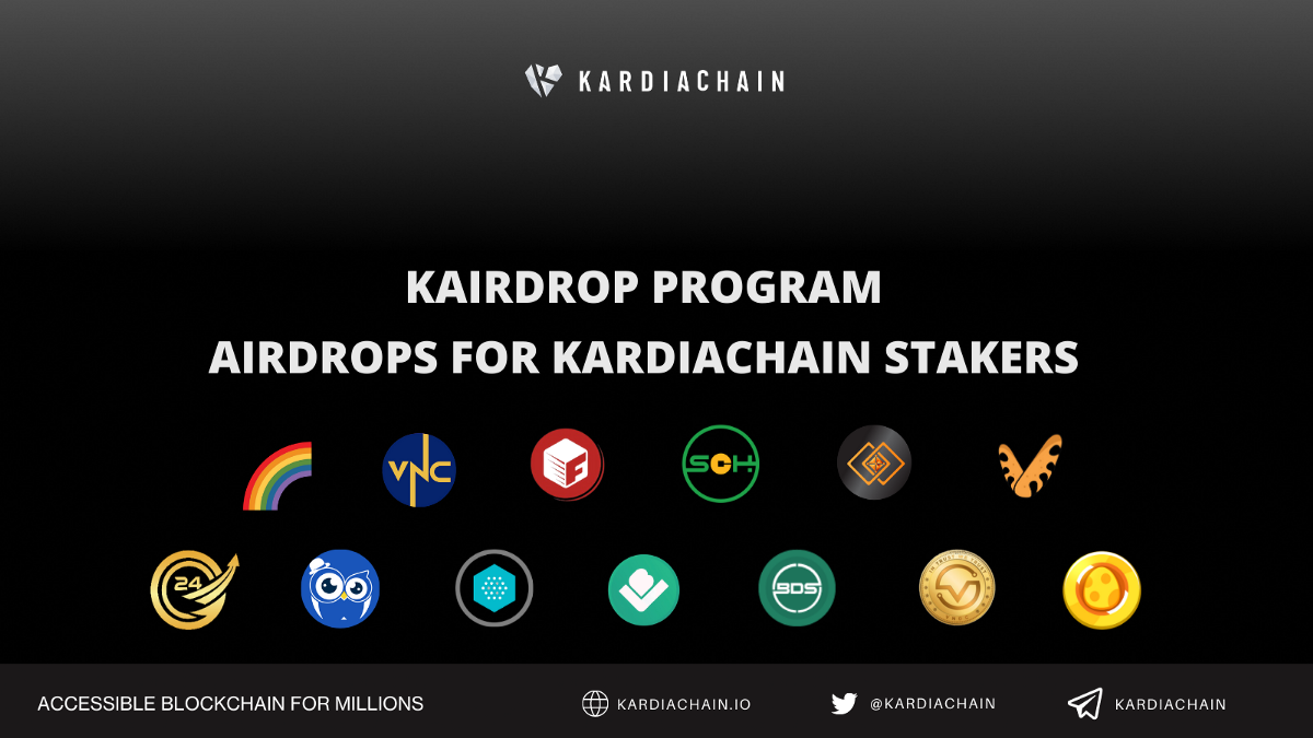 Introducing the KAIRDROP program—Airdrops For KardiaChain Stakers