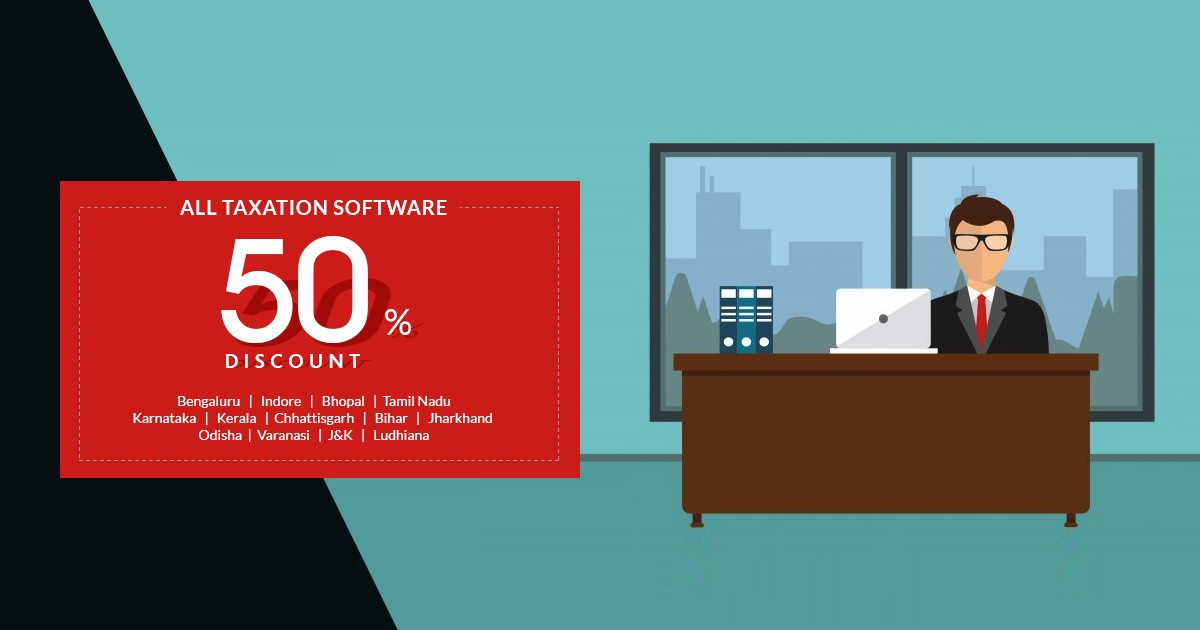 Get Flat 50% OFF on Income Tax Software | GST Software