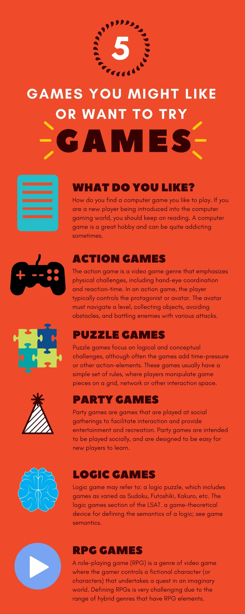 5 WAYS TO KNOW WHAT KIND OF GAME YOU LIKE - Alexander Cain