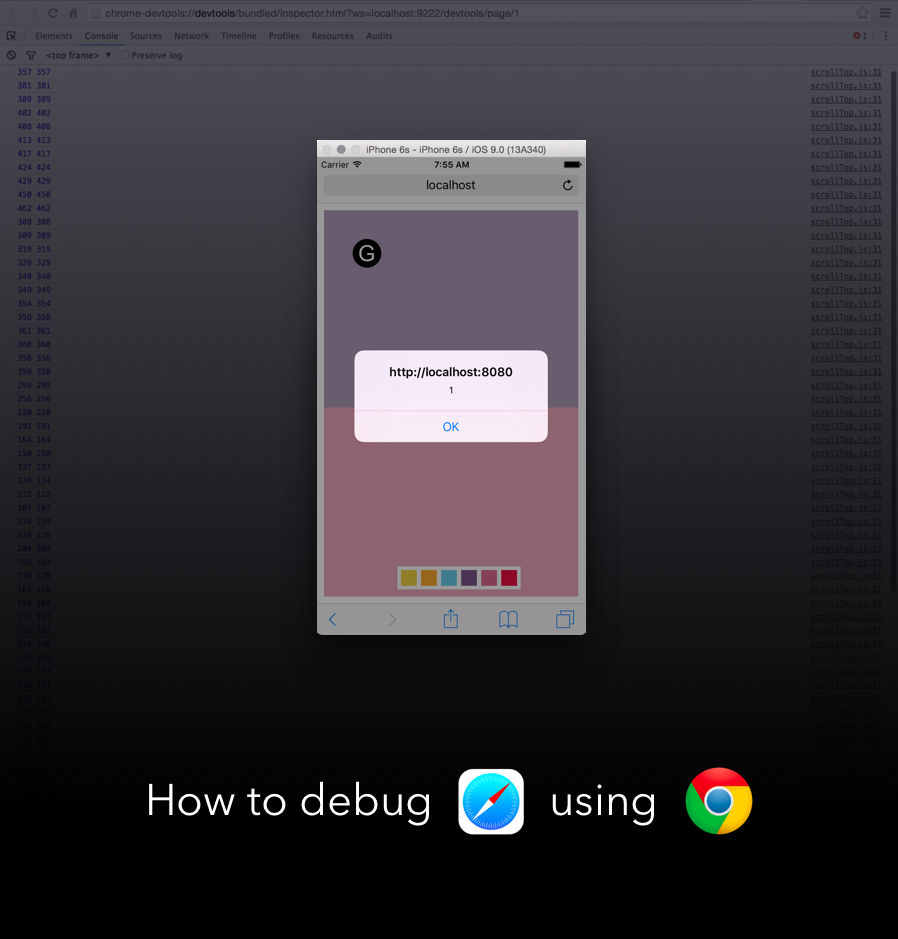 How to debug remote iOS device using Chrome DevTools
