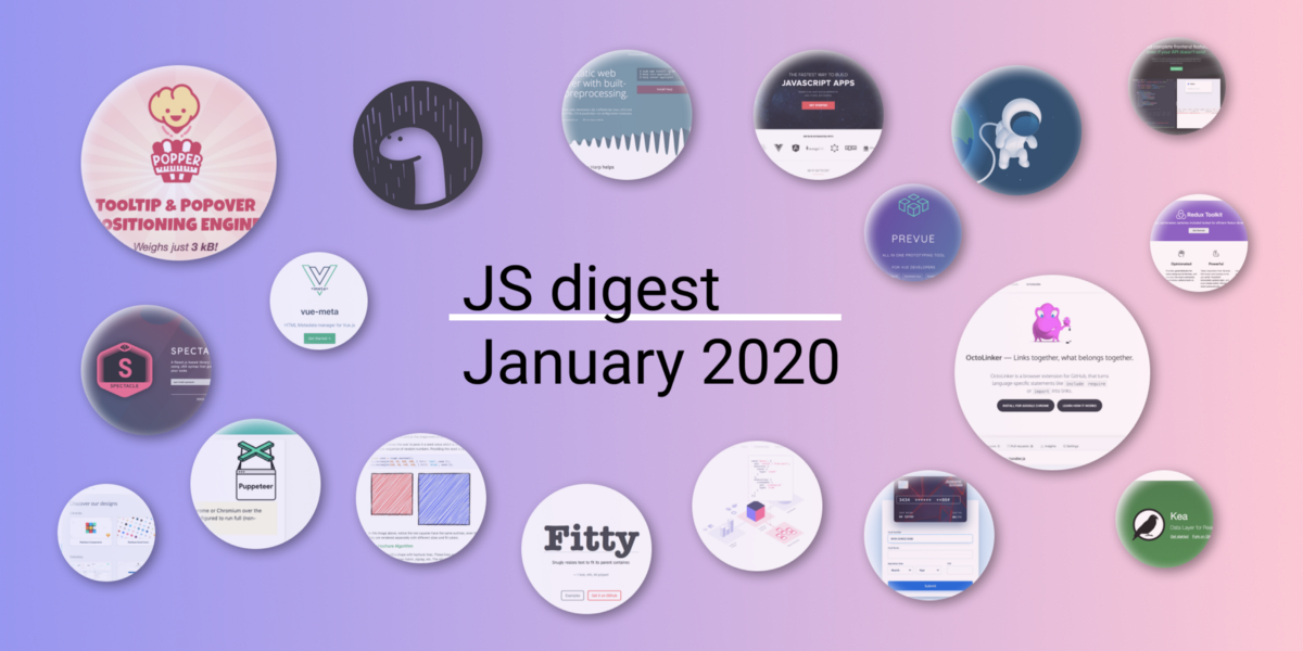 36 most popular JavaScript repositories on GitHub in January 2020