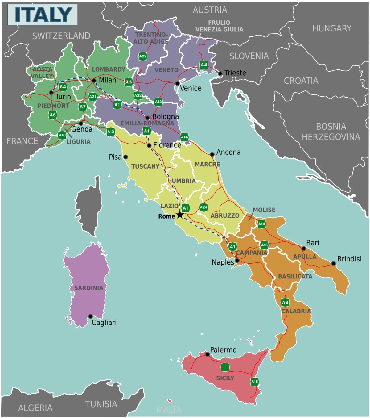 Map Of South Of Italy.The Big Italian Divide Why Is Southern Italy Poorer Than The