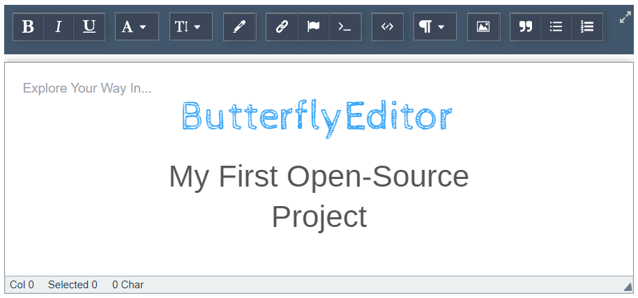 """How I Started My First Open-Source Project: """"WYSIWYG Rich"""