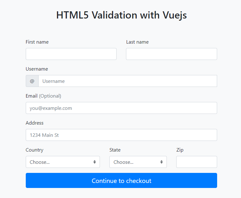 Form Validation with HTML & Vuejs - ITNEXT