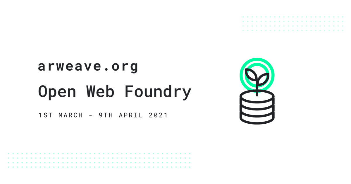 The Open Web Foundry: Helping Profit Sharing Community Founders Gain Traction and Raise Millions