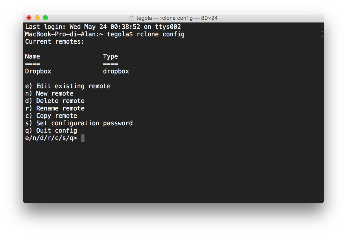 Backup your home directory to Dropbox with rclone - Alan