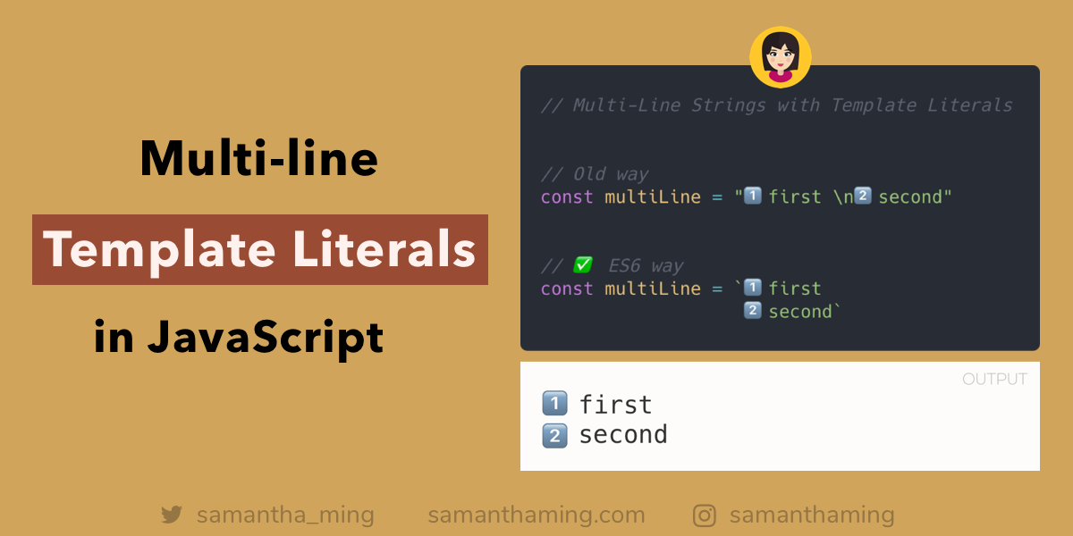 How to Create Multi-Line String with Template Literals in