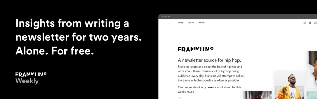 Insights from writing a newsletter for two years. Alone. For free.