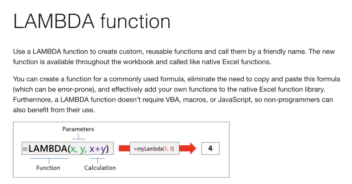 MS Excel — My LAMBDA Function Compilation