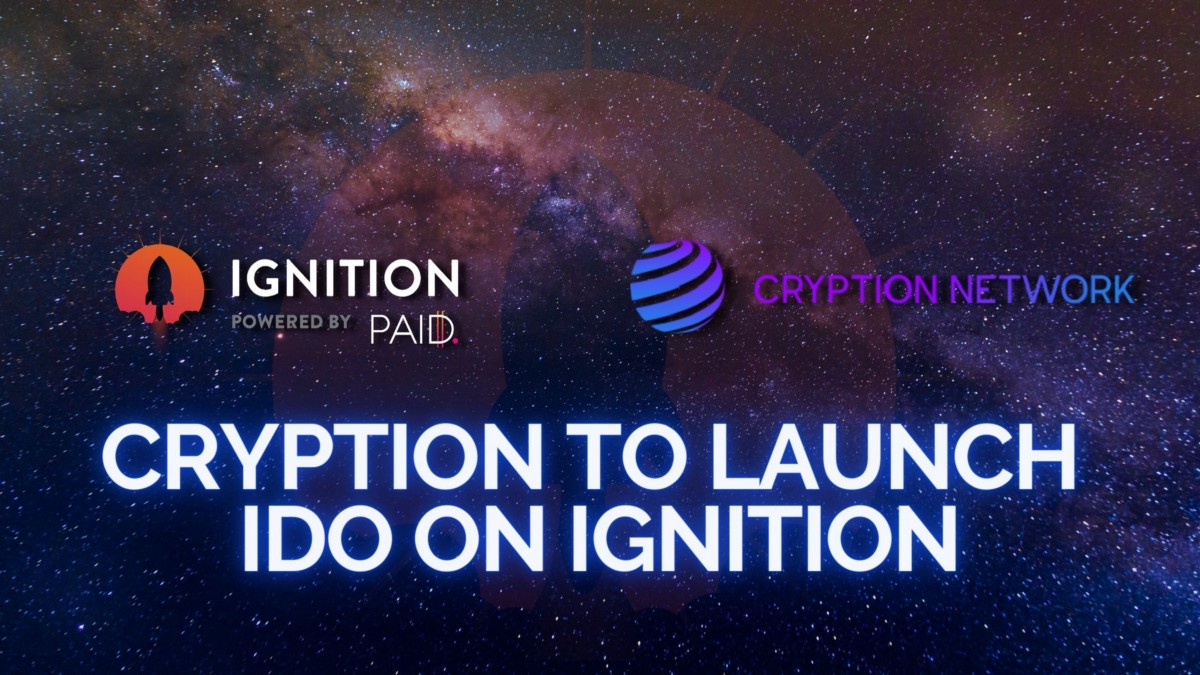 Cryption to Launch IDO on Ignition