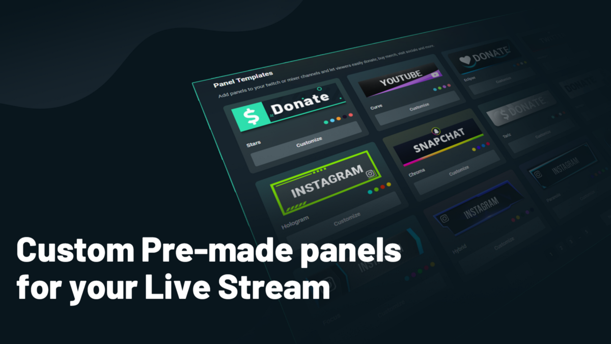 Streamlabs Offering Custom Pre Made Panels For Your Live Stream By Ethan May Streamlabs Blog