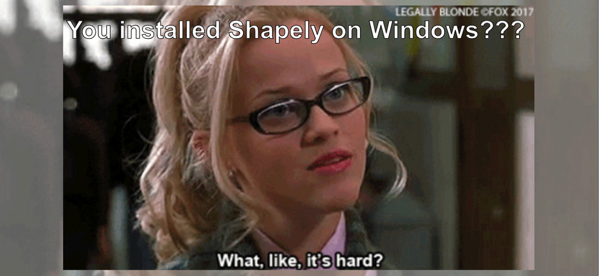 Install Shapely on Windows